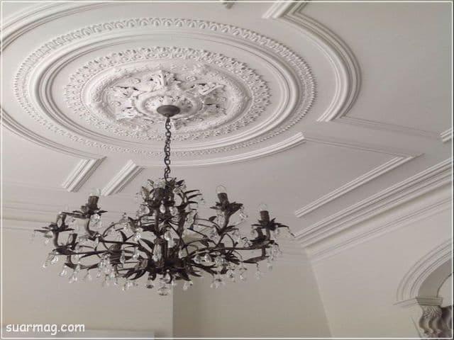 ديكورات جبس اسقف راقيه كلاسيك 13   Classic Gypsum Ceiling 13
