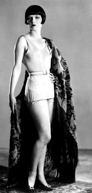 Full-length portrait of silent movie star Louise Brooks