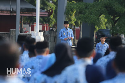Serahkan SK Kenaikan Pangkat, Plt. Bupati Nur Arifin: Berikan Pelayanan yang Baik