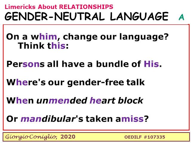 limerick; communication; gender; Giorgio Coniglio
