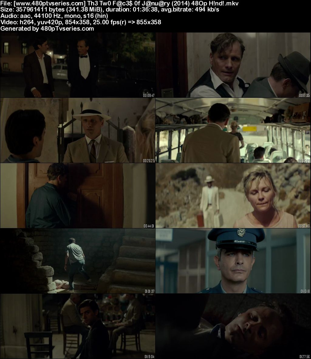 The Two Faces of January (2014) 350MB Full Hindi Dual Audio Movie Download 480p Bluray Free Watch Online Full Movie Download Worldfree4u 9xmovies