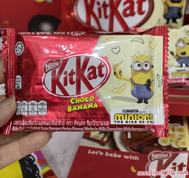 KITKAT Choco Banana x Minions, KITKAT Choco Banana, KITKAT, KITKAT Malaysia, Food