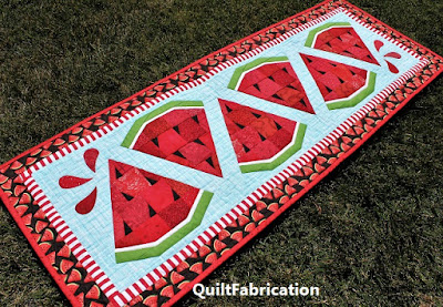 Watermelon Twist Table Runner by QuiltFabrication