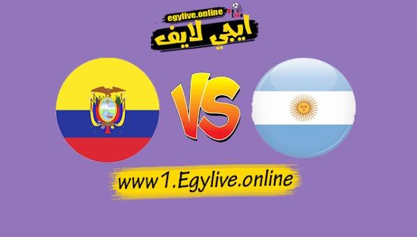 نتيجة مباراة الأرجنتين والإكوادور بتاريخ 09-10-2020 في تصفيات كأس العالم أمريكا الجنوبية