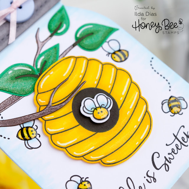 Mason Jar Bee Hive Friendship Card for BEE BOLD Blog Hop by ilovedoingallthingscrafty