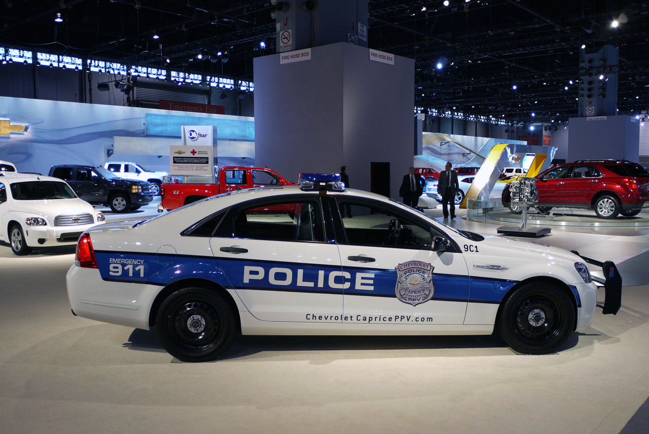 sports cars: police car side view