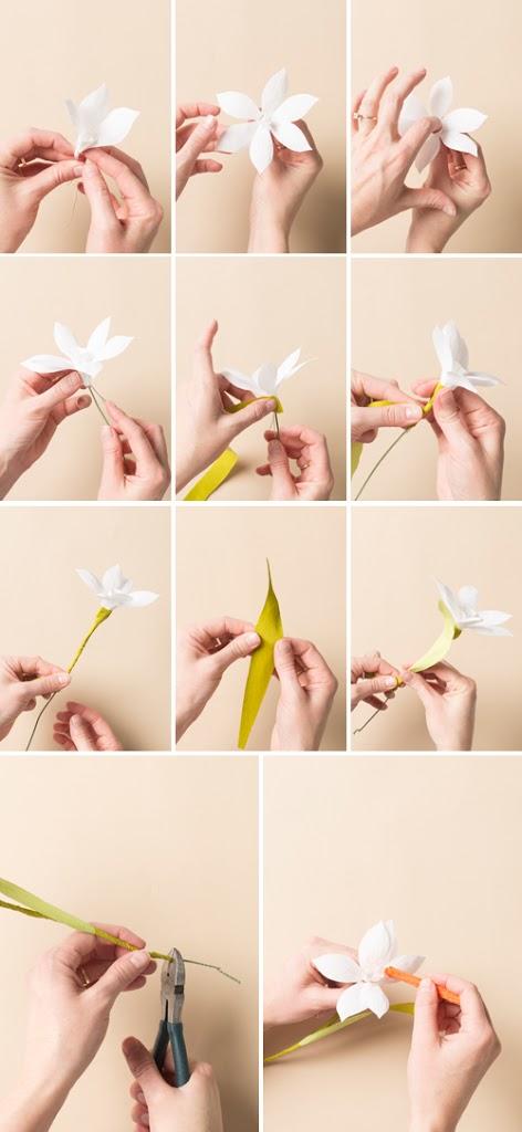 Cách làm hoa thủy tiên bằng giấy