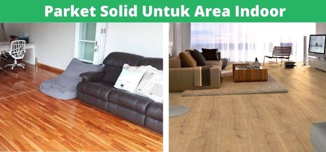 parket solid untuk area indoor