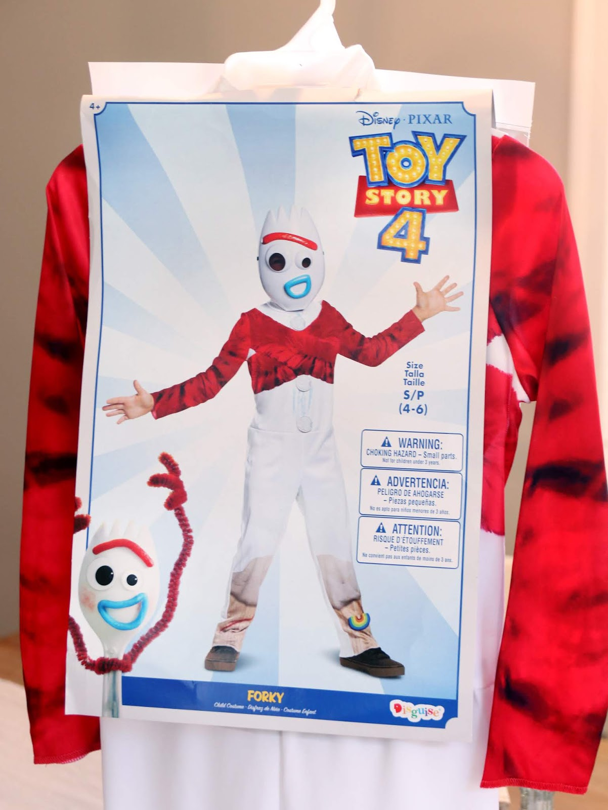 toy story 4 disguise forky costume review