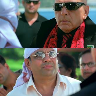 Tum kab aaye? Sabse pehle mai hi aaya..., Paresh Rawal as Ghungroo seth | best welcome movie meme templates & dialogue