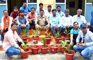कोतवाली में पौधे लगाकर 'ग्रीन सिटी-क्लीन सिटी' अभियान का हुआ समापन