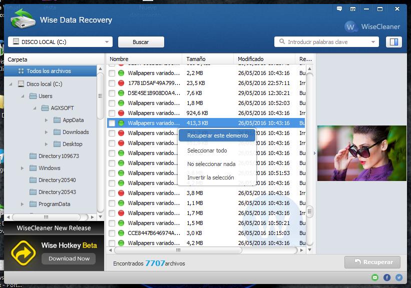 Disponible gratuitement, en français et ne nécessitant même pas d'installation (application portable), Wise Data Recovery est un utilitaire permettant de récupérer les fichiers effacés par erreur, même lorsque la Corbeille a été vidée.