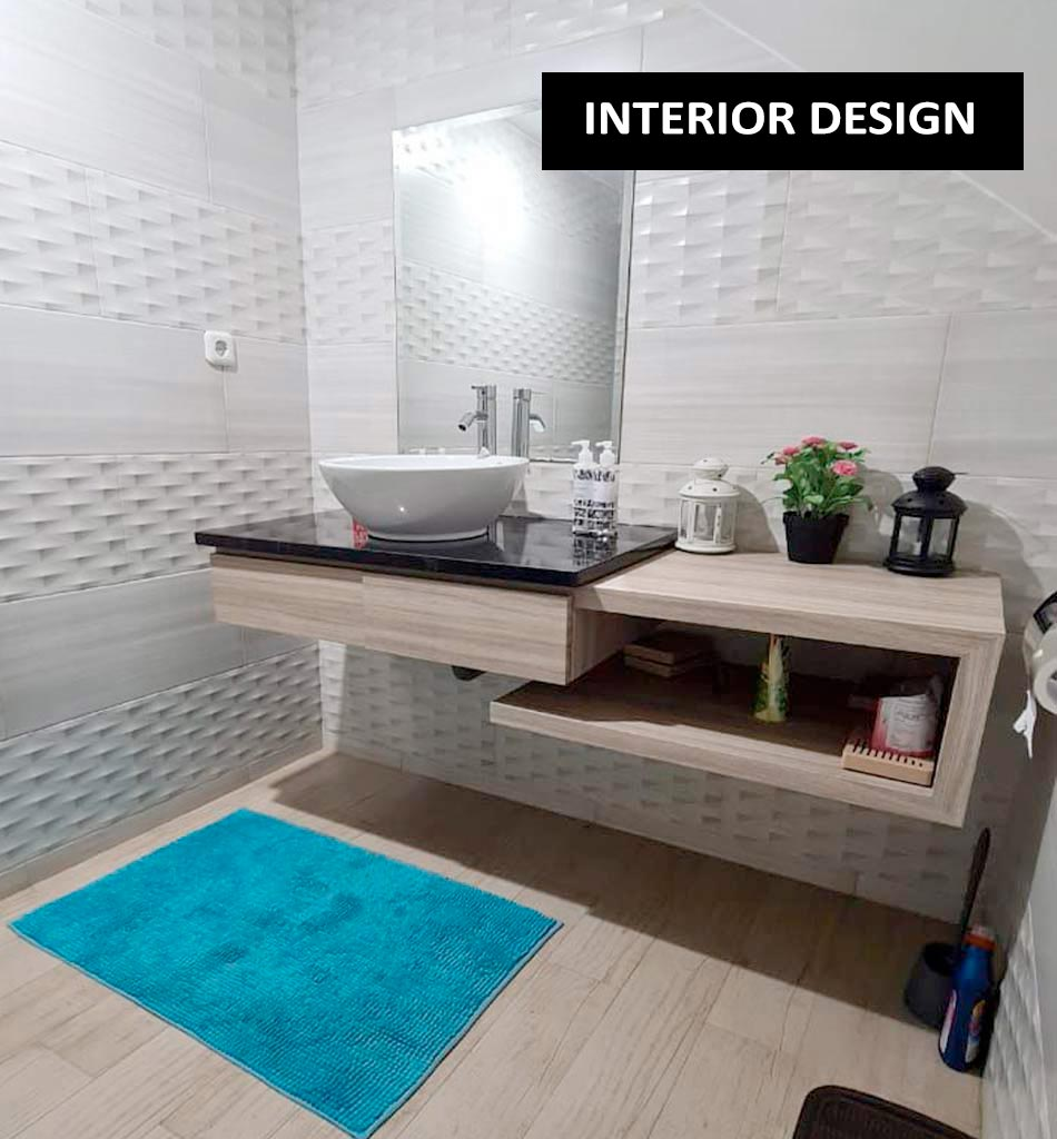 desain interior kamar mandi kreativa bangun
