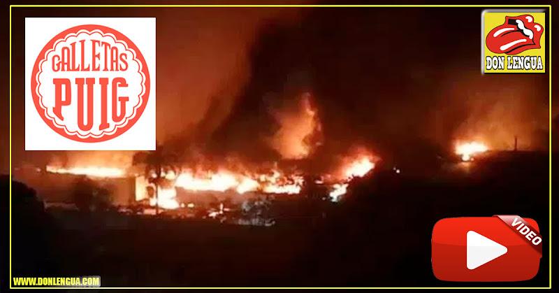 Fábrica de Galletas PUIG se incendió en Tejerías