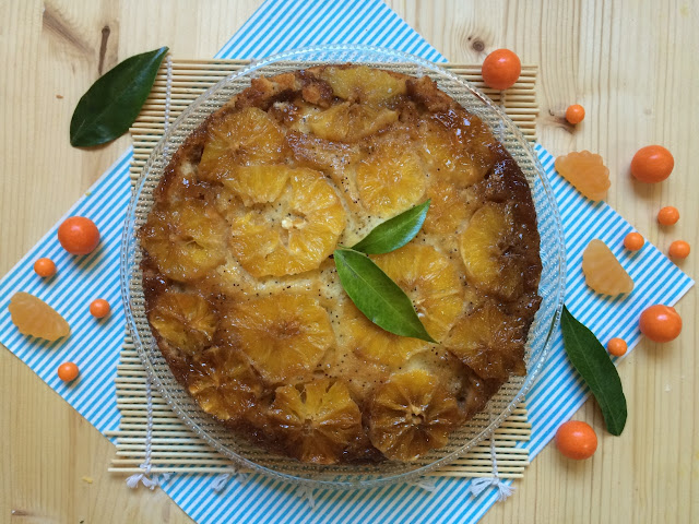 bizcocho-invertido-de-naranja, orange-upside-down-cake