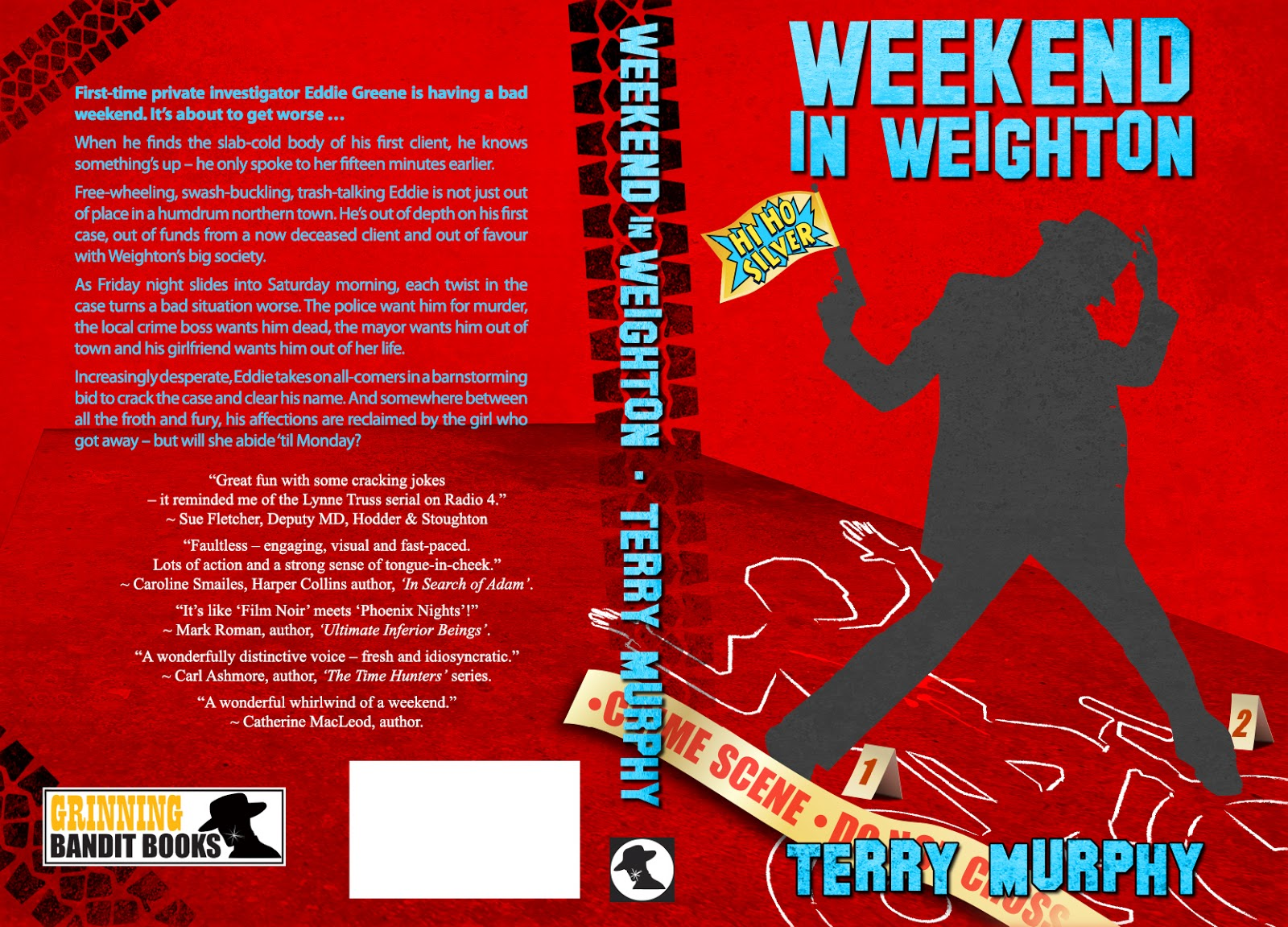 """Weekend in Weighton"" author: Terry Murphy, cover designer: Kura Carpenter"