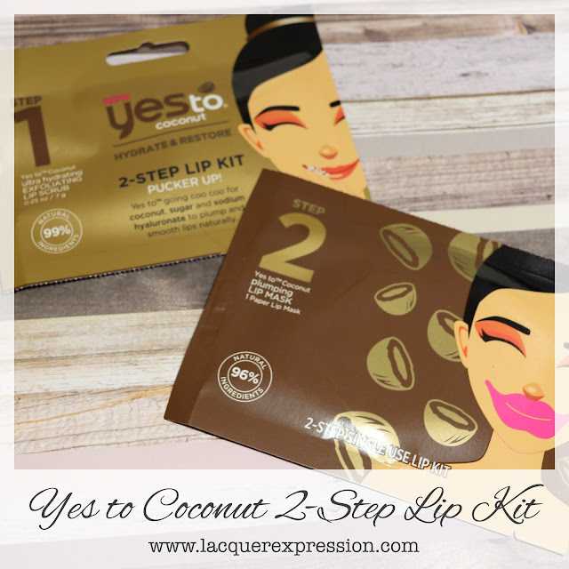 Review of the Hydrate and Restore 2-Step Lip Kit from Yes To Coconut