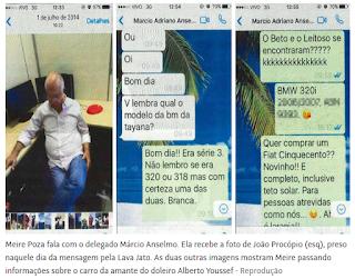 Mensagens do celular de Meire Poza