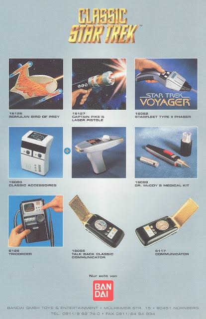 Star Trek Bandai Playmates Catalogue