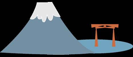 Illustration lac Ashi et mont Fuji