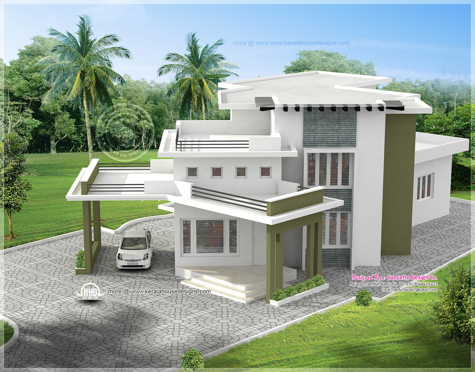 5 different house exteriors by Concetto Design - Kerala ...