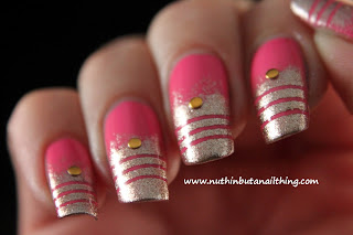 models own champagne pink blush nail art