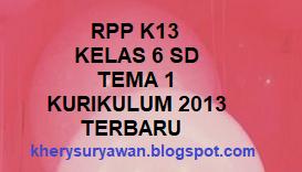 File Pendidikan RPP K13 kelas 6 SD Tema 1 Lengkap Revisi Terbaru
