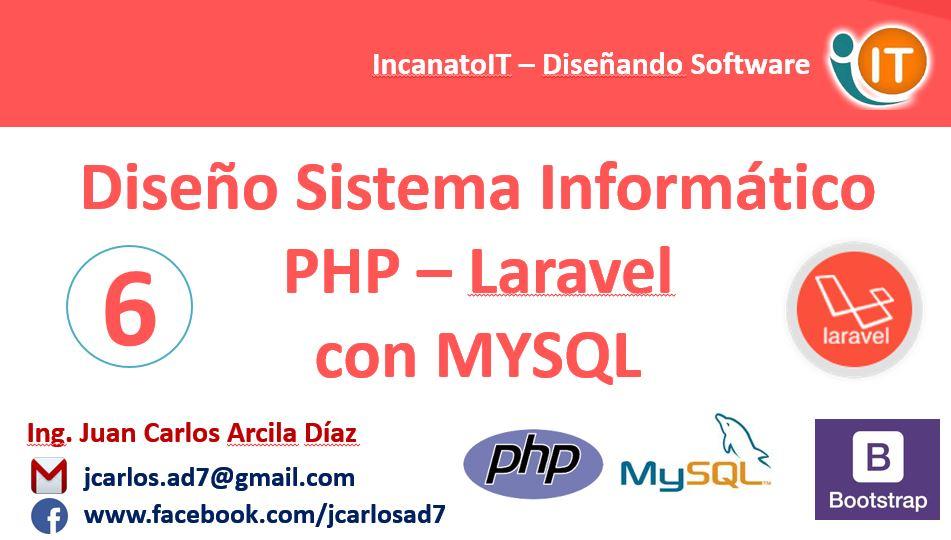 Diseño Sistema web PHP con laravel y Mysql (6-36) Vistas y ...