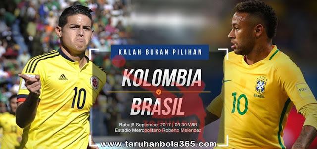 Prediksi Taruhan Bola 365 : Kolombia vs Brasil 6 September 2017