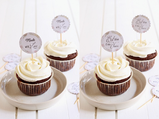 DIY-Tutorial Cupcake und Muffin Picker - Template/Vorlage Text
