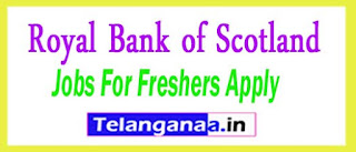 Royal Bank of Scotland Recruitment 2017 Jobs For Freshers Apply