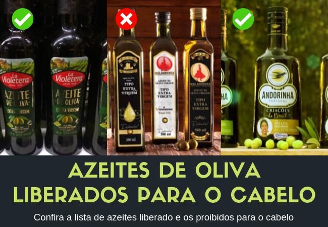 AZEITES DE OLIVA LIBERADOS PARA O CABELO