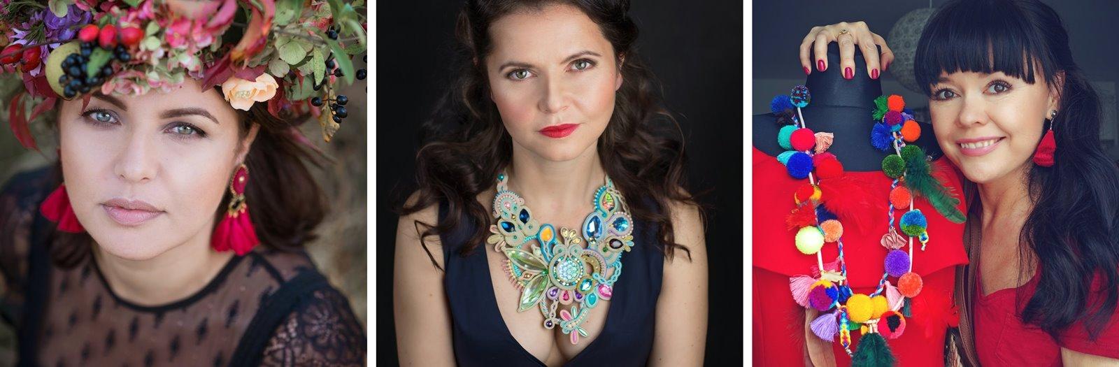 zdj 2 mró soutache jak zrobić biżuterię techniką soutache kolczyki biżuteria na wesele ślub pompony tęczowa kolorowa polska firma wyrób biżuterii ręczna biżuteria handmade sandały z pomponami wywiad pomysł biznes