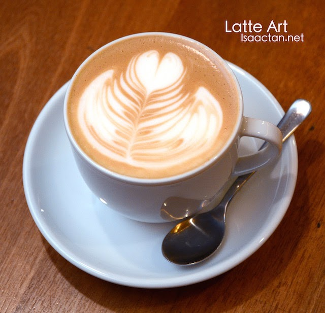 Pretty latte art in our cafe lattes.