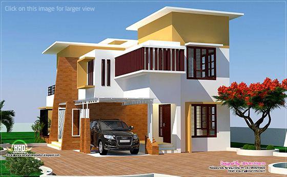 Modern home in Kerala