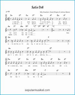 chord satin doll lagu jazz standar