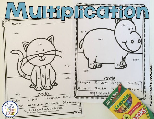 Color By Numbers Awesome Animals Mixed Math Problems for Addition, Subtraction, Multiplication and Division.