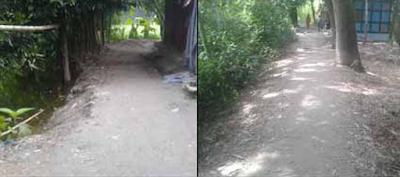 চাঁদপুুর সদরের রামচন্দ্রপুর গ্রামে রাস্তা নির্মাণের নামে অর্থ আত্মসাতের অভিযোগ