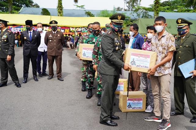 Bersama Forkopimda Dan Dandim 0207/Simalungun Ikuti  Upacara HUT TNI ke-76 Secara Virtual