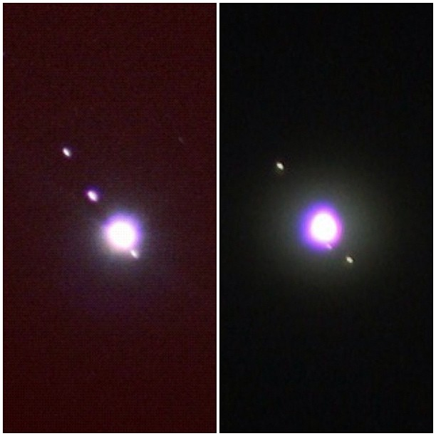 Jupiter's moons 3 weeks apart