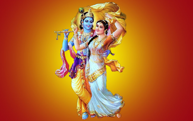 Best Lord Krishna With Radha Romantic  Wallpaper