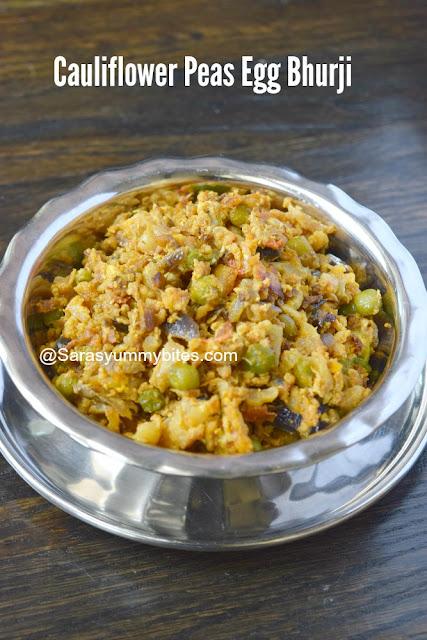 Cauliflower Peas Egg Bhurji
