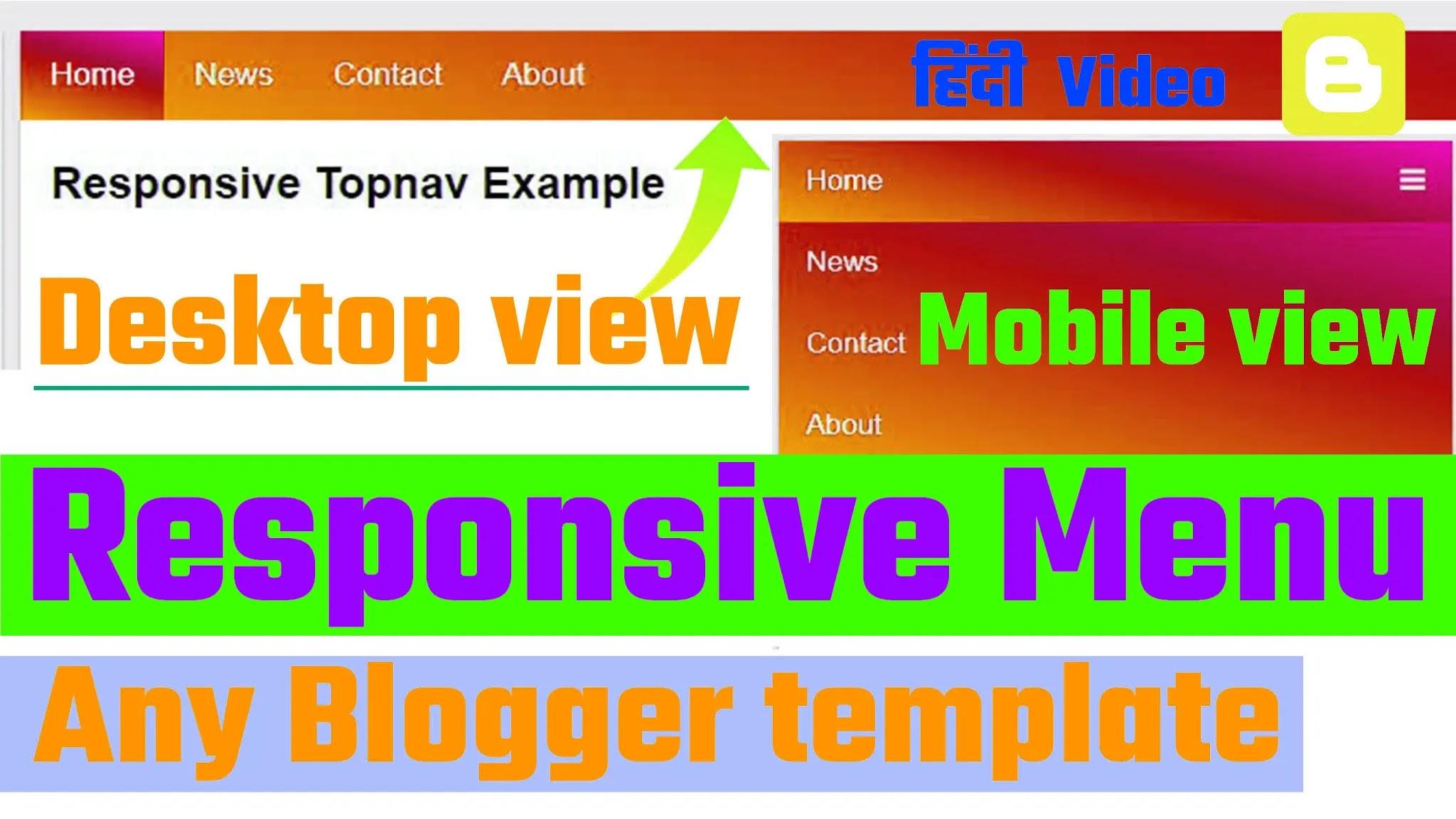 How to creat navigation menu html css blogger