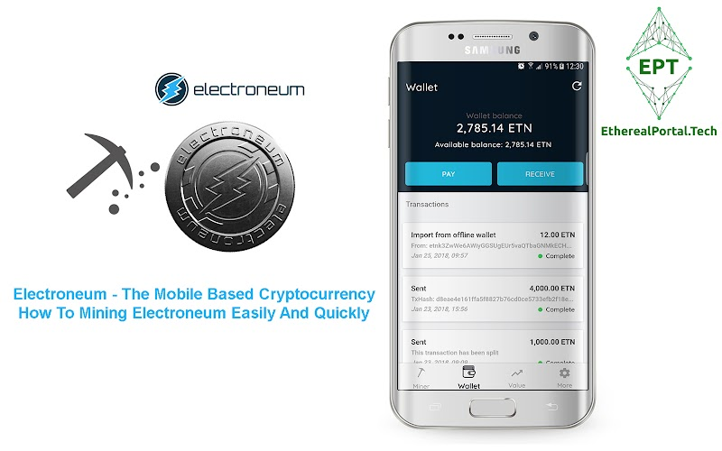How To Mining Electroneum Easily And Quickly
