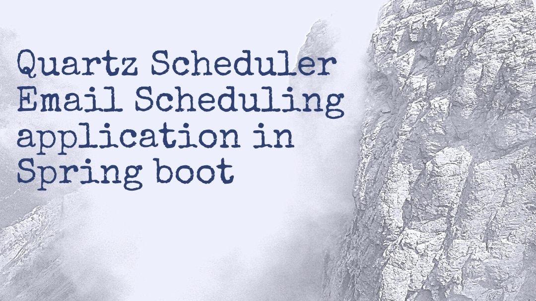 spring quartz scheduler web application example