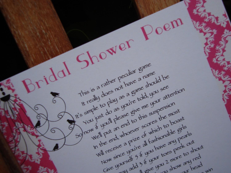 Bridal Shower Ideas: Fantastic Bridal Shower Poems