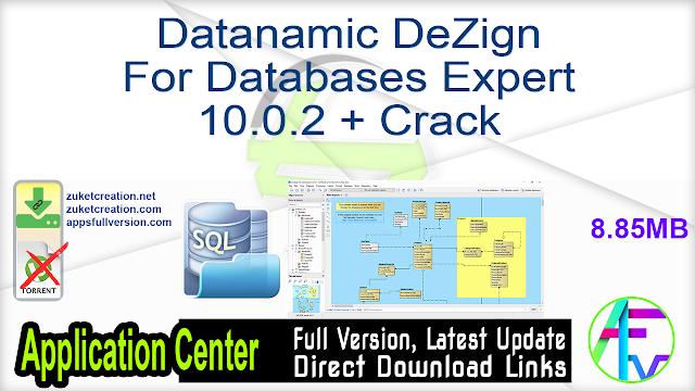 Datanamic DeZign For Databases Expert 10.0.2 + Crack