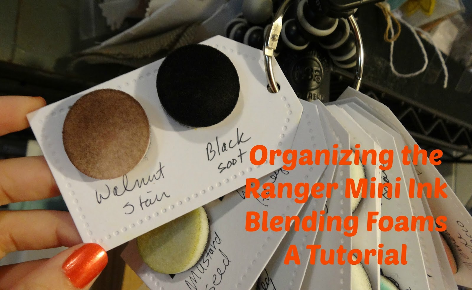 Dana Warren - Kraft Paper Stamps - Organizing Ranger Mini Blending Foams