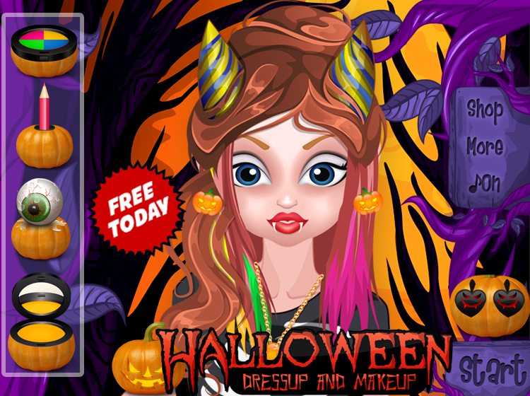 halloween free girls game