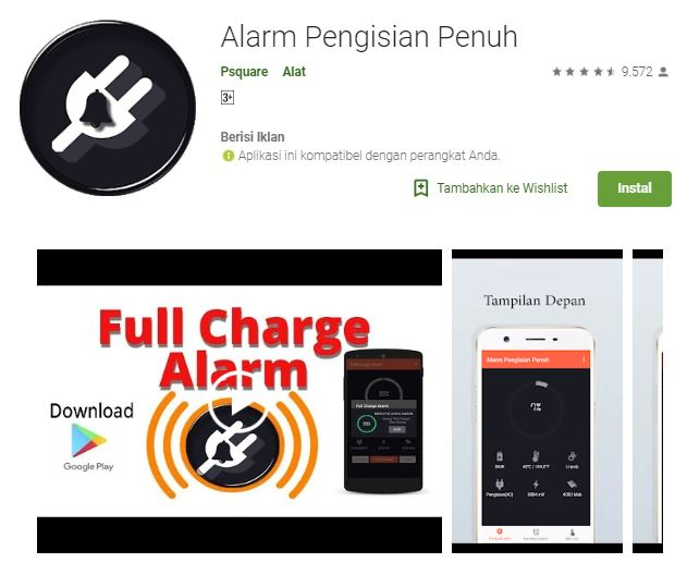 Membuat alarm pengingat baterai android saat penuh Cara Membuat Alarm Pengingat Baterai Android Penuh
